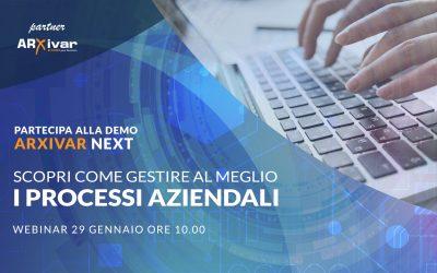Demo Arxivar Next – webinar 29/01/2021