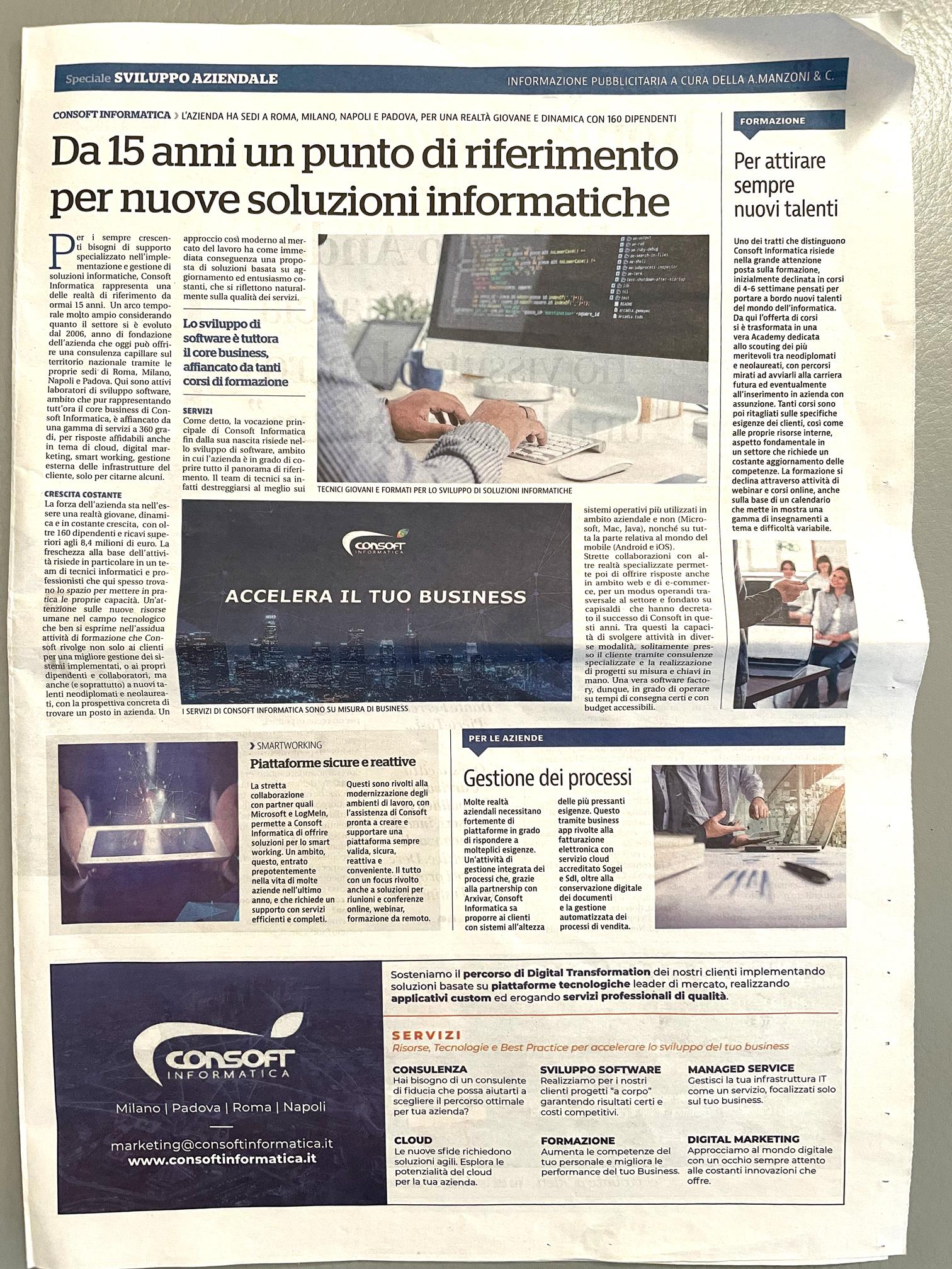 La Repubblica - articolo Consoft Informatica