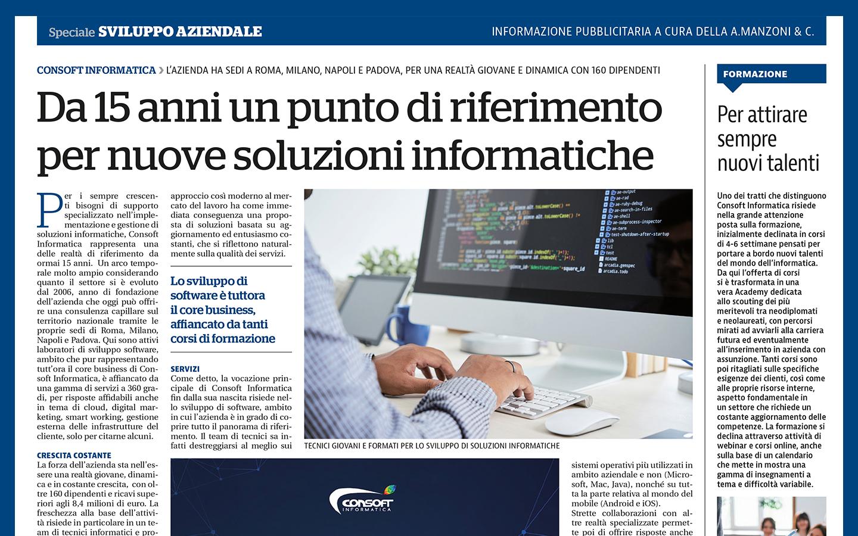 """Consoft Informatica su """"La Repubblica"""""""