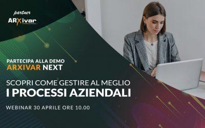 Demo Arxivar Next – webinar 30/04/2021